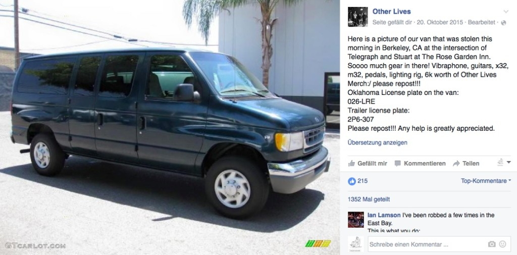 other lives stolen van