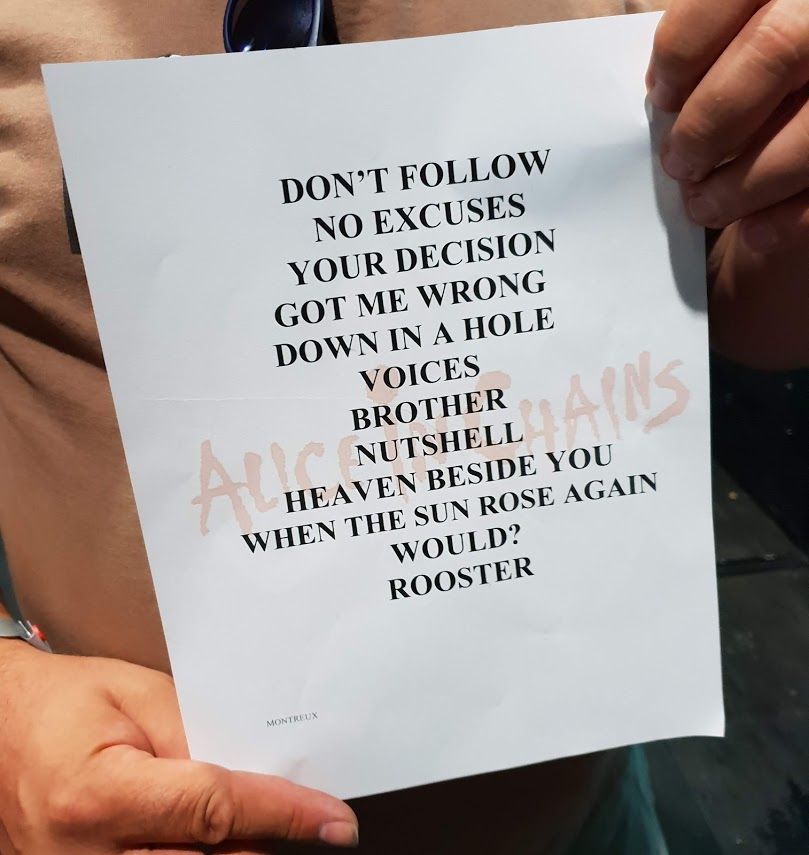 alice in chains setlist